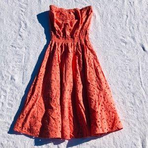 C&C California**Orange Summer Cotton Dress**Large